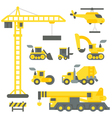 Flat design construction truck set vector image