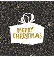 Pattern with Christmas elements Retro styled vector image