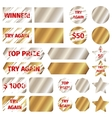 Scratch card elements vector image