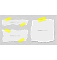 Set of torn papers attached plasters vector image