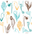spring flowers pattern vector image