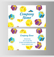 voucher card gift box vector image
