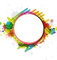 watercolor paint design artwork vector image vector image