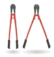 Set of two bolt cutters Tools for cutting solid vector image