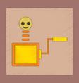 flat shading style icon kids box vector image