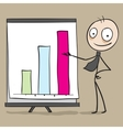 Businessman showing chart in presentation vector image