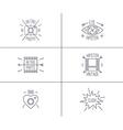 Set of hipster badges vector image