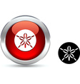Sand dollar button vector image
