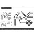 car repair line icon vector image
