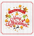 christmas and happy new year with typography vector image
