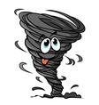 Funny hurricane vector image