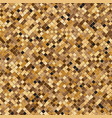 Gold square halftone abstract background vector image