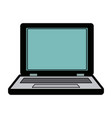 laptop computer device electronic network vector image