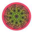 Mandala for art coloring book zendoodle vector image