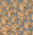 Moving seamless pattern Lot of cardboard boxes vector image