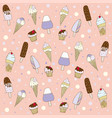 patterns ice cream vector image