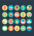 Travel Colored Icons 5 vector image