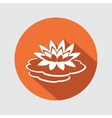 Lily flower icon Water-lilies waterlily floral vector image