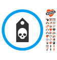 death coupon icon with dating bonus vector image