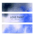 watercolor abstract banners vector image vector image