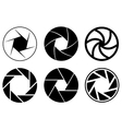 Camera aperture icons vector image vector image
