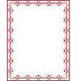 red certificate background vector image
