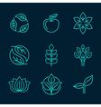 organic logos vector image
