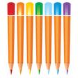 coloured pencils vector image vector image