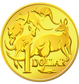 australian one dollar coin vector image
