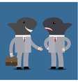 Concept of business shark vector image