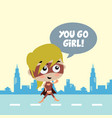 adorable and amazing cartoon superhero in classic vector image