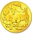 Australian one dollar coin vector image