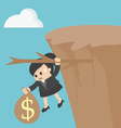 business woman Fiscal cliff concept vector image