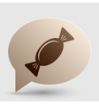 Candy sign Brown gradient icon on vector image