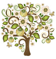 Spring isolated tree vector image