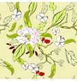 summer floral pattern vector image