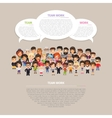 Team Work Poster with People vector image