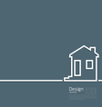 Web template house logo in minimal flat style vector image
