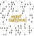 Merry Christmas Golden glitter Postcard Christmas vector image