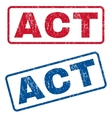 Act Rubber Stamps vector image