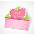 Love mail with Valentine card vector image