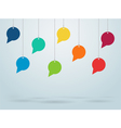 Hanging Speech Bubbles Design vector image vector image