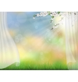 spring background curtain branches vector image