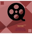 Film icon flat modern design on geometric abstract vector image