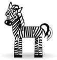 Funny zebra on white background vector image