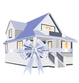 the house with the ribbon vector image