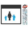 Mother Calendar Page Icon With Bonus vector image