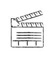 cinema clapboard equipment vector image