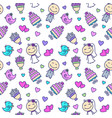 wedding cartoon seamless pattern vector image vector image