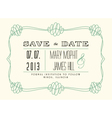 Classic Save the Date vector image